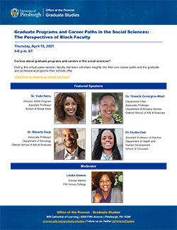 Graduate Programs and Career Paths in the Social Sciences flyer