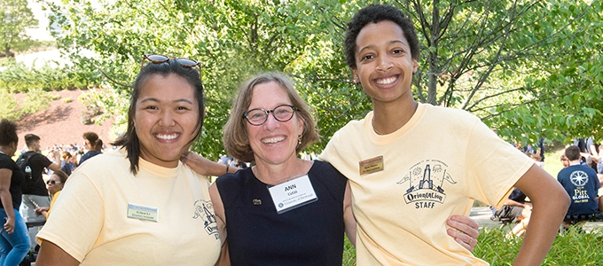 provost cudd with students
