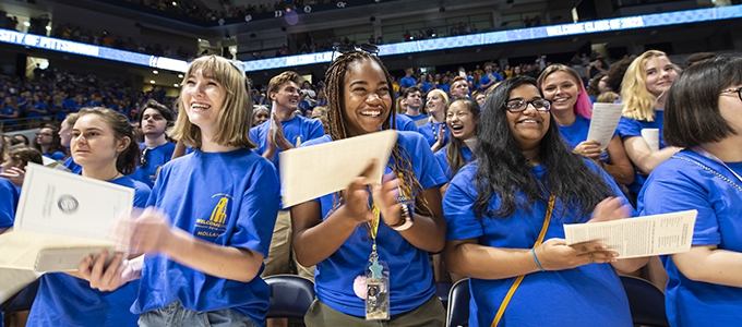 students attending new student convocation