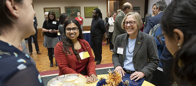 Provost Cudd at New Women Faculty event