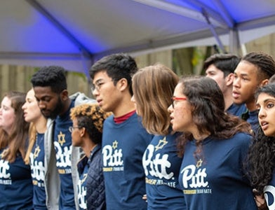 Acapella group performing at Tree of Life event